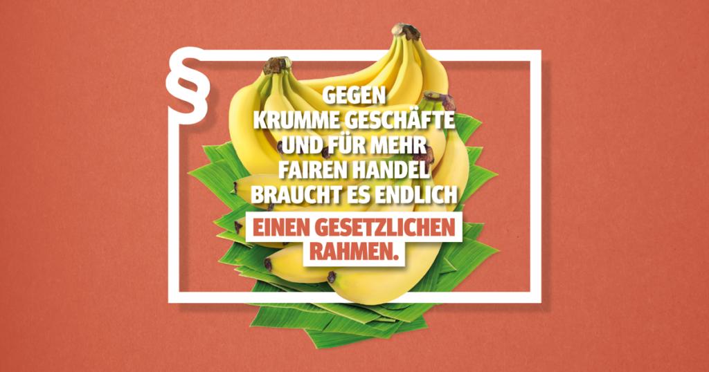 Bild wirbt mit Slogan für Initiative Lieferkettengesetz.